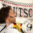 German mixed-race race driver — Stock Photo
