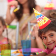 Children at a birthday party — Stock Photo