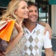 Couple on shopping spree — Stock Photo #7374622