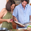 Couple cooking — Stock Photo #7375216