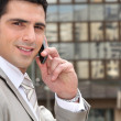 Stock Photo: Businessman talking on the phone