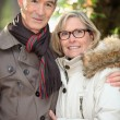 Senior couple in the park — Stock Photo #7376353