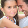 Father and daughter sharing a moment together — Stock Photo