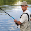 Mfishing in river — Stock Photo #7377281
