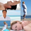 Stock Photo: Wellbeing and massage themed collage