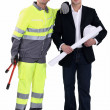 An architect and his foreman. — Stock Photo