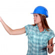 A female foreman. — Stock Photo