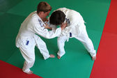 Judo fight. — Stock Photo