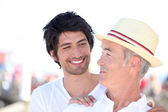 Older man and younger man relationships — Stock Photo