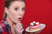 Sin of gluttony — Stock Photo