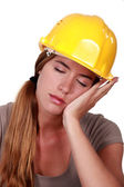 Tired construction worker — Stock Photo