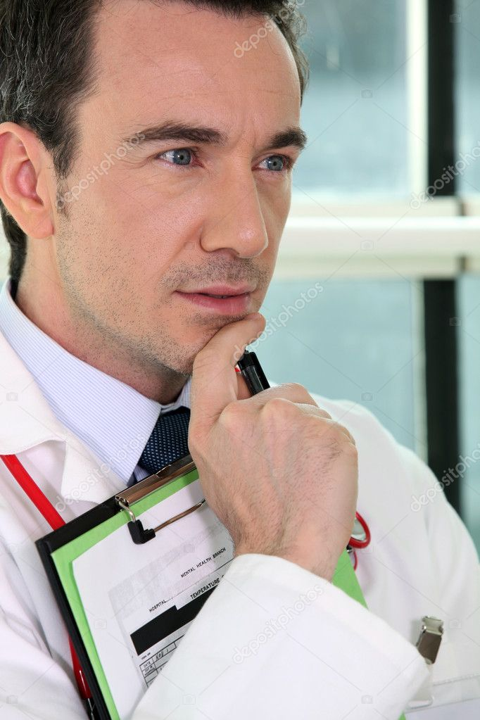 Close-up of a serious doctor — Stock Photo #7373327