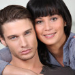 Young couple at home — Stock Photo #7388976