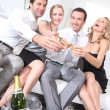 Couples partying — Stock Photo #7389666