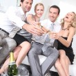 Stock Photo: Couples partying