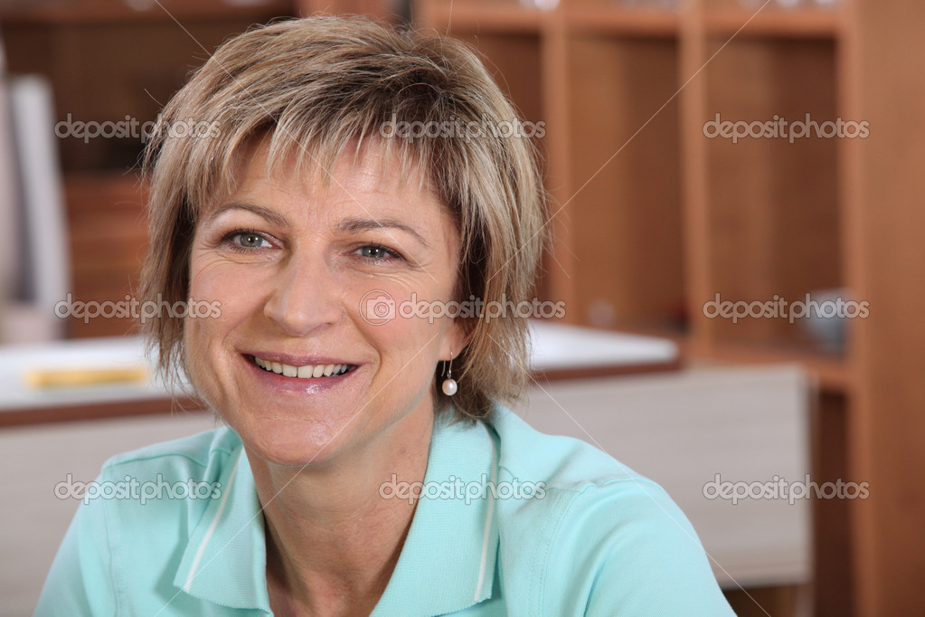 Smiling mature woman  Stock Photo #7389205