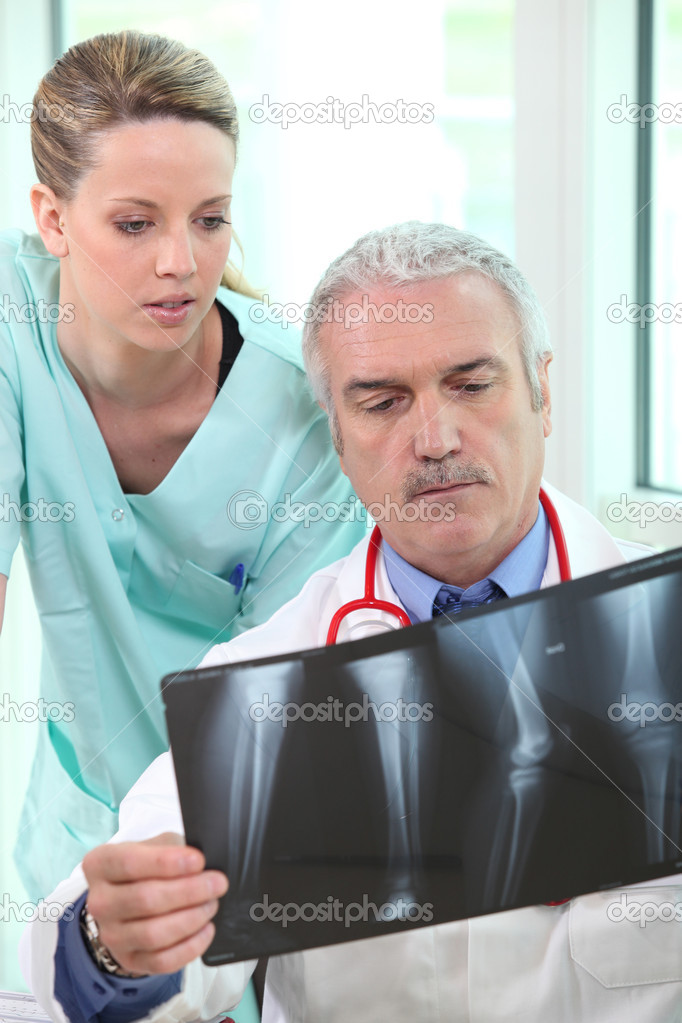Radiologist and assistant  Stock Photo #7389236