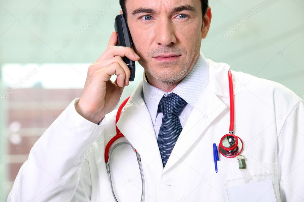 A worried doctor  Stock Photo #7389274