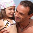 Father and daughter on holiday - Foto Stock