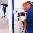 Tradesman at work — Stock Photo