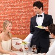 Stock Photo: Couple being served their meal