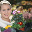 Young female gardener - Foto Stock