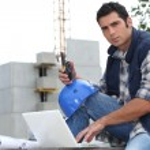 Portrait of a construction foreman — Stock Photo
