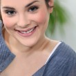 Young woman smiling — Stock Photo #7393240