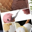 Ice cream themed collage — Stock Photo