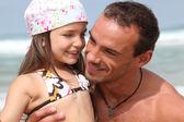 Vader en dochter op vakantie — Stockfoto