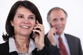 Mature businesswoman on a telephone — Stock Photo