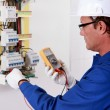Portrait of an electrician — Stock Photo