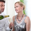 Couple with champagne — Stock Photo #7419716