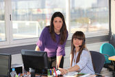 Two women at work — Stock Photo