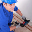 Plumber drilling — Stock Photo #7429630