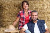 Farmer couple — Stock Photo