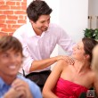 Flirt with a massage — 图库照片