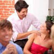 Flirt with a massage — Stockfoto