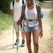 Foto de Stock  : Couple hiking