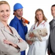 Stock Photo: Various professions