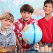 Three boys at school — Stock Photo