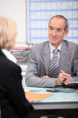 Businesspeople in negotiation — Stock Photo