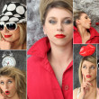Collage of a fashionable woman — Stock Photo