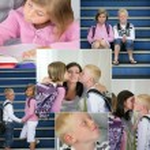 Kids going to school — Stock Photo
