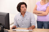 Male technical support — Stock Photo