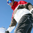 Stock Photo: Snowboarder