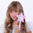 Portrait of a little girl in fairy costume — Stock Photo #7548910