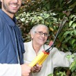 Mother and son gardening — Stock Photo #7549183