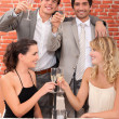 Stock Photo: Friends making a toast