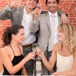 Friends making a toast — Stock Photo